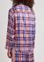 Periwinkle Plaid stretch-silk pyjama shirt - Jessica Russell Flint