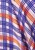 Periwinkle Plaid stretch-silk slip dress - Jessica Russell Flint