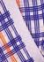 Periwinkle Plaid stretch-silk pyjama trousers - Jessica Russell Flint
