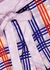 Periwinkle Plaid stretch-silk pyjama shorts - Jessica Russell Flint
