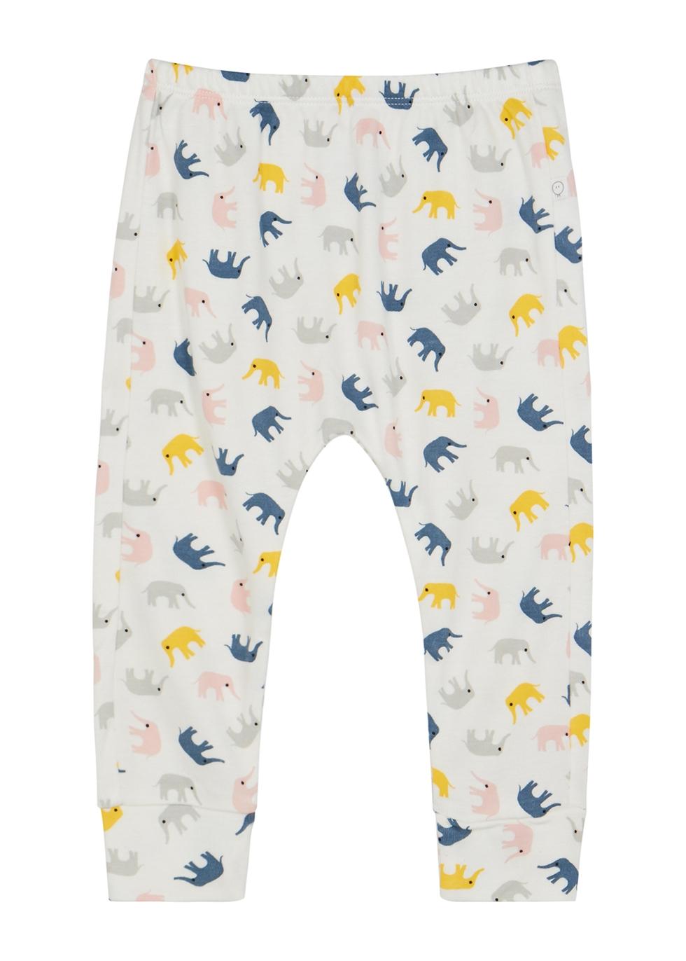 Elephant-print jersey leggings