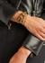 Brown leather wrap bracelet - Alexander McQueen