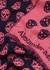 Pink skull-intarsia wool scarf - Alexander McQueen