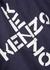 Navy hooded cotton-blend sweatshirt - Kenzo