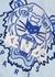 Blue logo-embroidered cotton sweatshirt - Kenzo