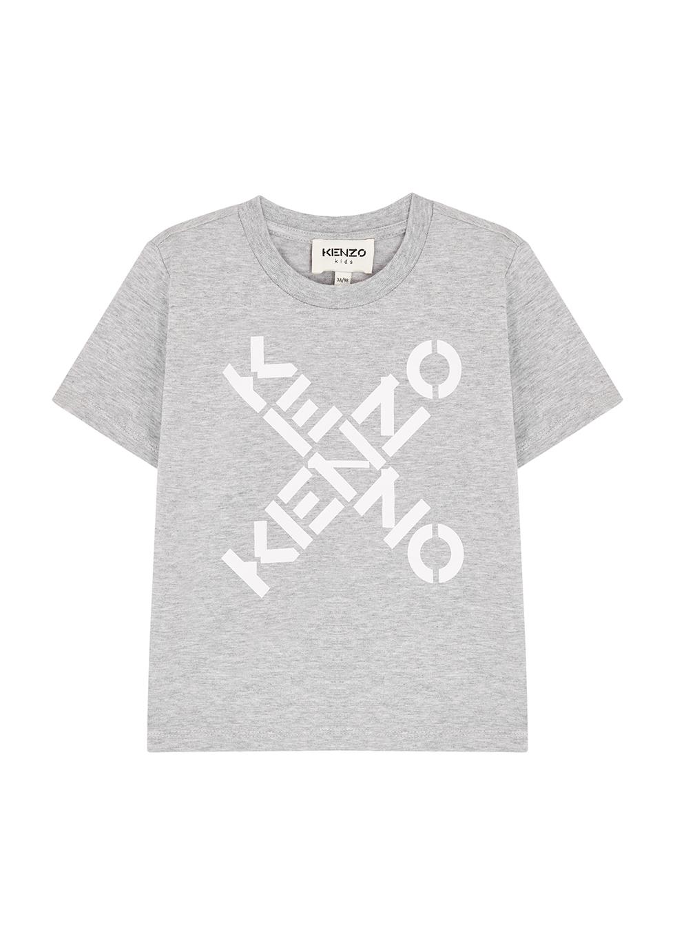 Grey logo stretch-cotton T-shirt (2-5 years)
