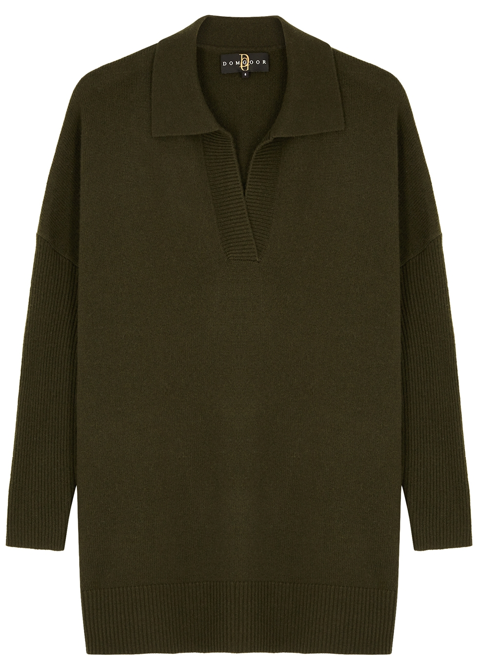 Green wool and cashmere-blend jumper