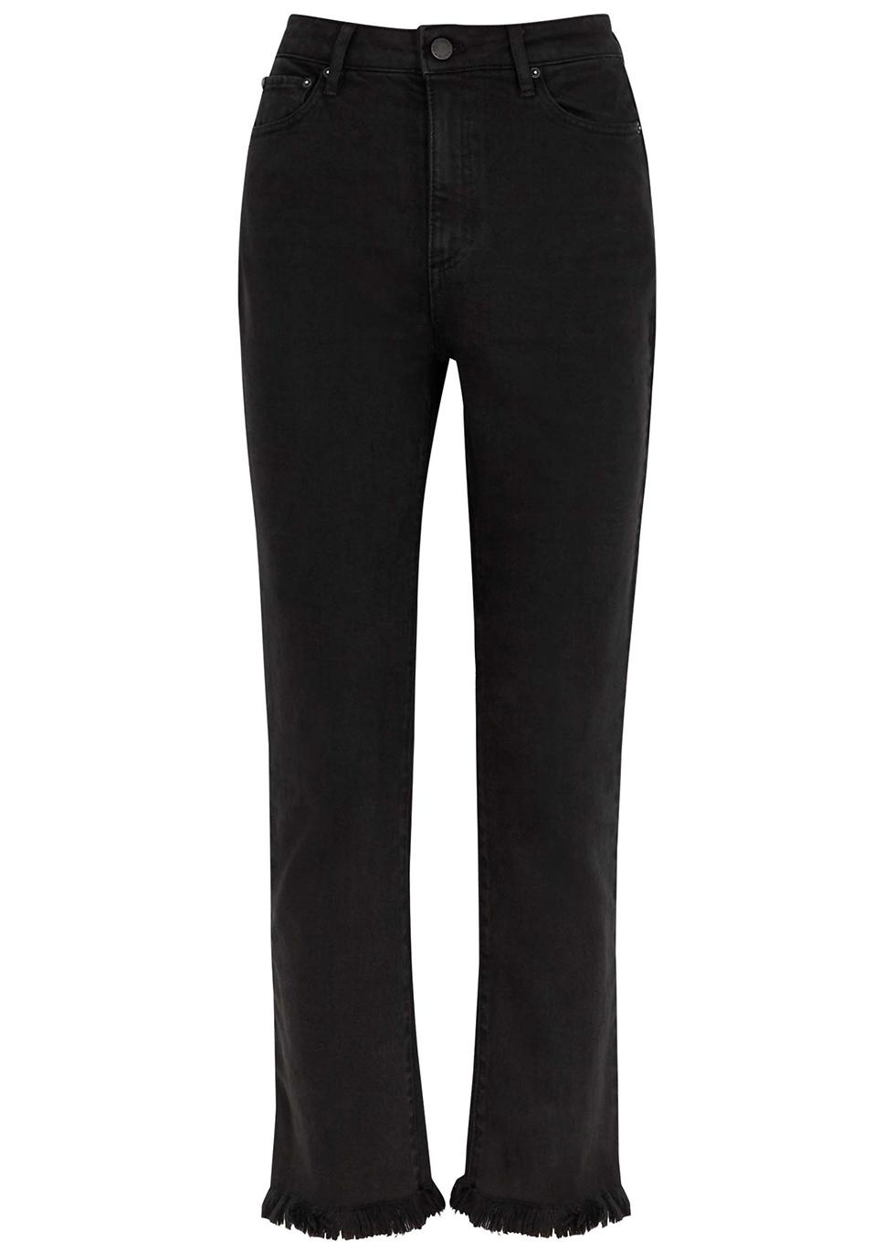 Amazing black cropped slim-leg jeans