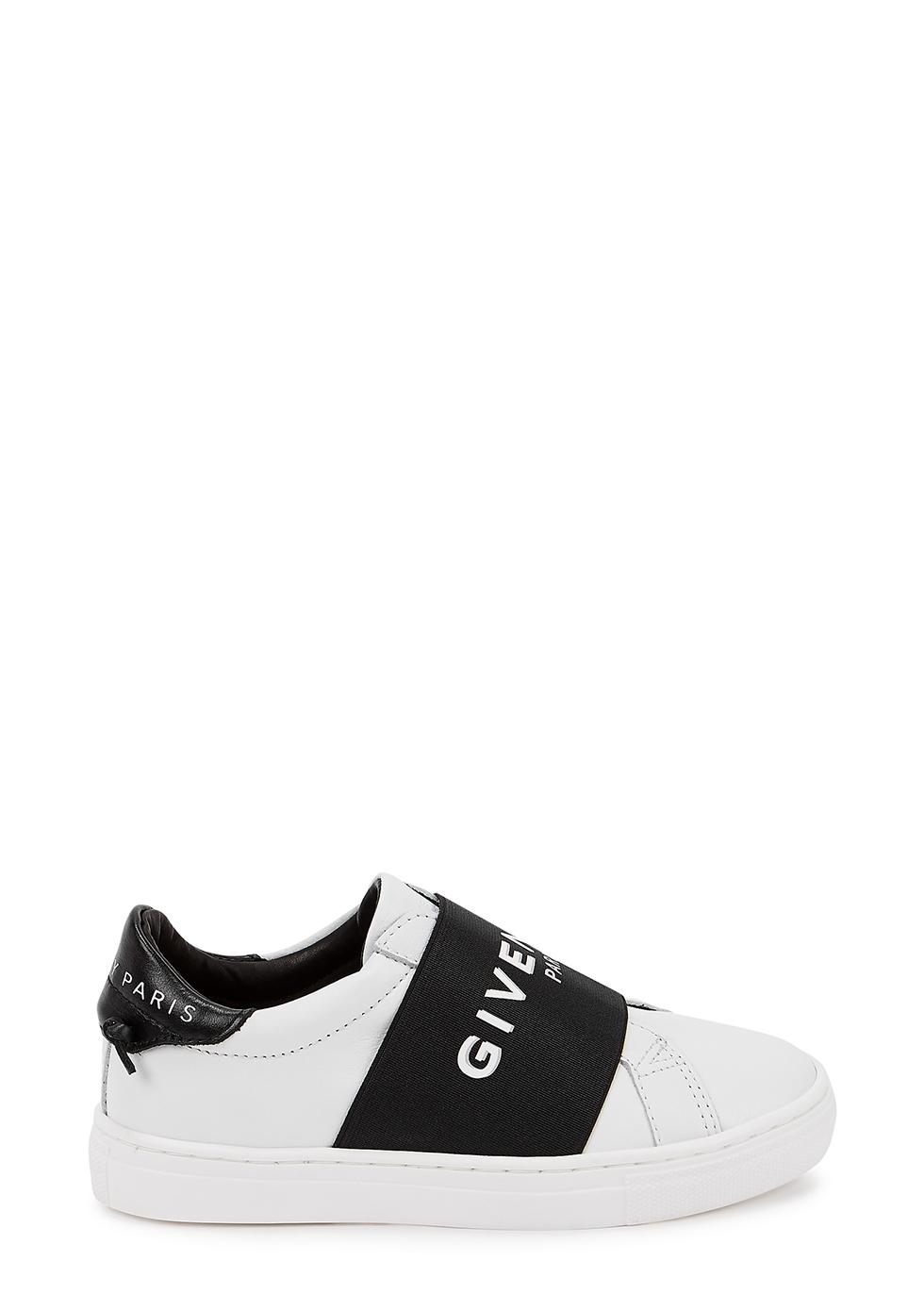 White logo leather sneakers (IT28-IT34)