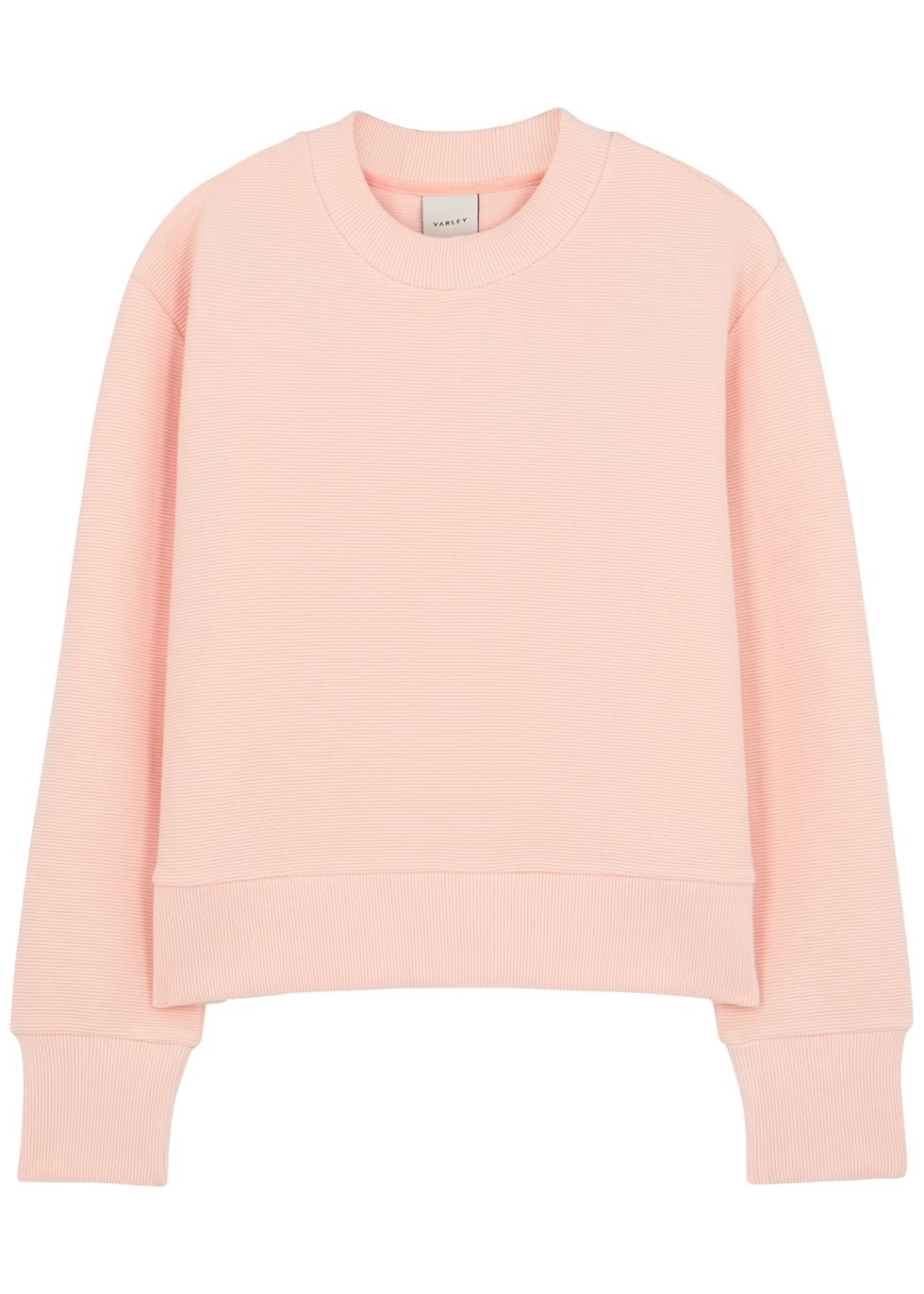 Cleon pink ribbed jersey sweatshirt