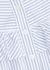 Sonnet striped ruffled cotton blouse - Veronica Beard