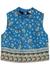 Sylvana blue printed stretch-cotton top - Veronica Beard