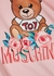Pink printed stretch-cotton T-shirt (4-8 years) - MOSCHINO
