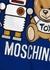 Blue printed stretch-cotton T-shirt (4-8 years) - MOSCHINO