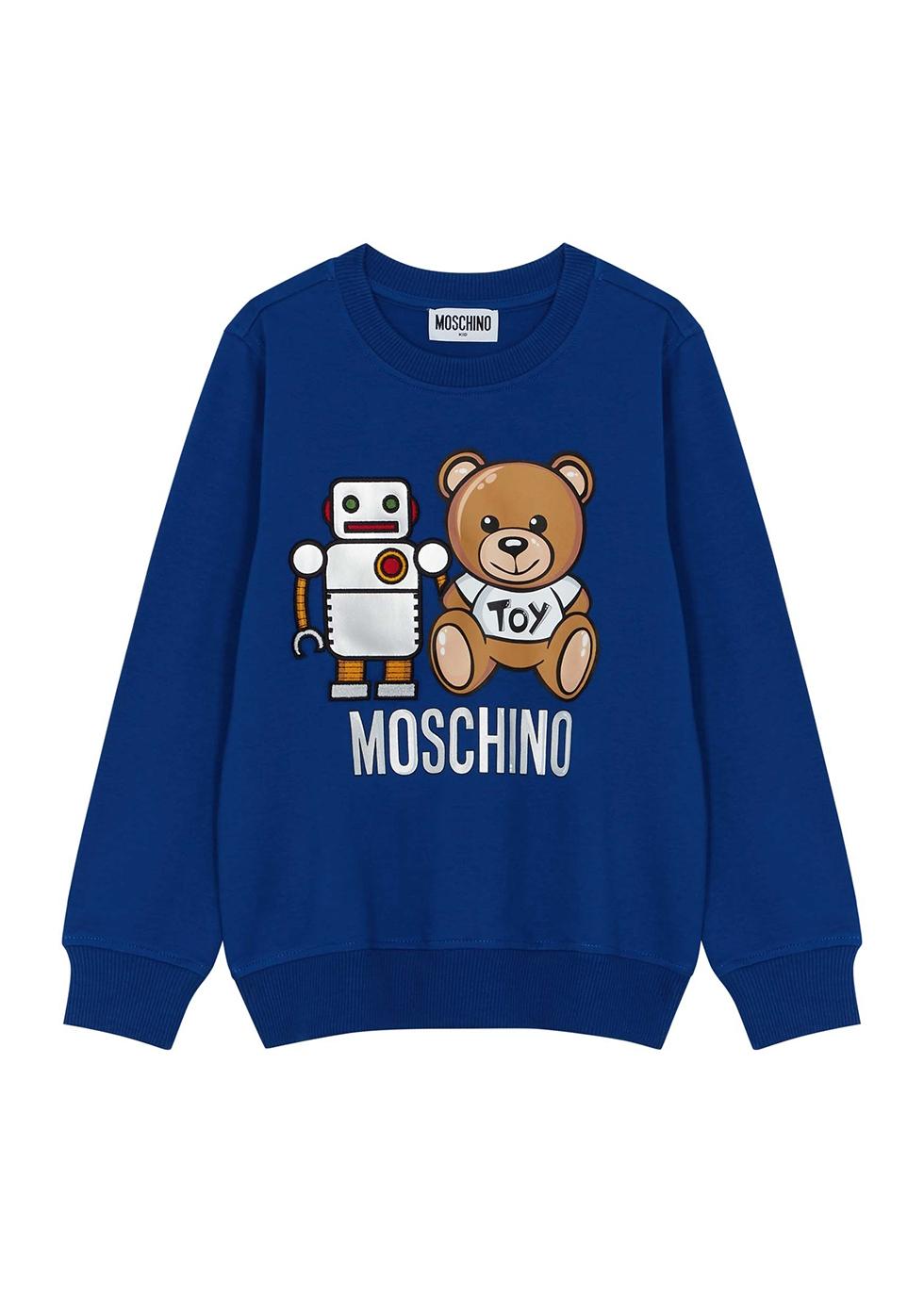 Blue printed stretch-cotton sweatshirt (4-8 years)