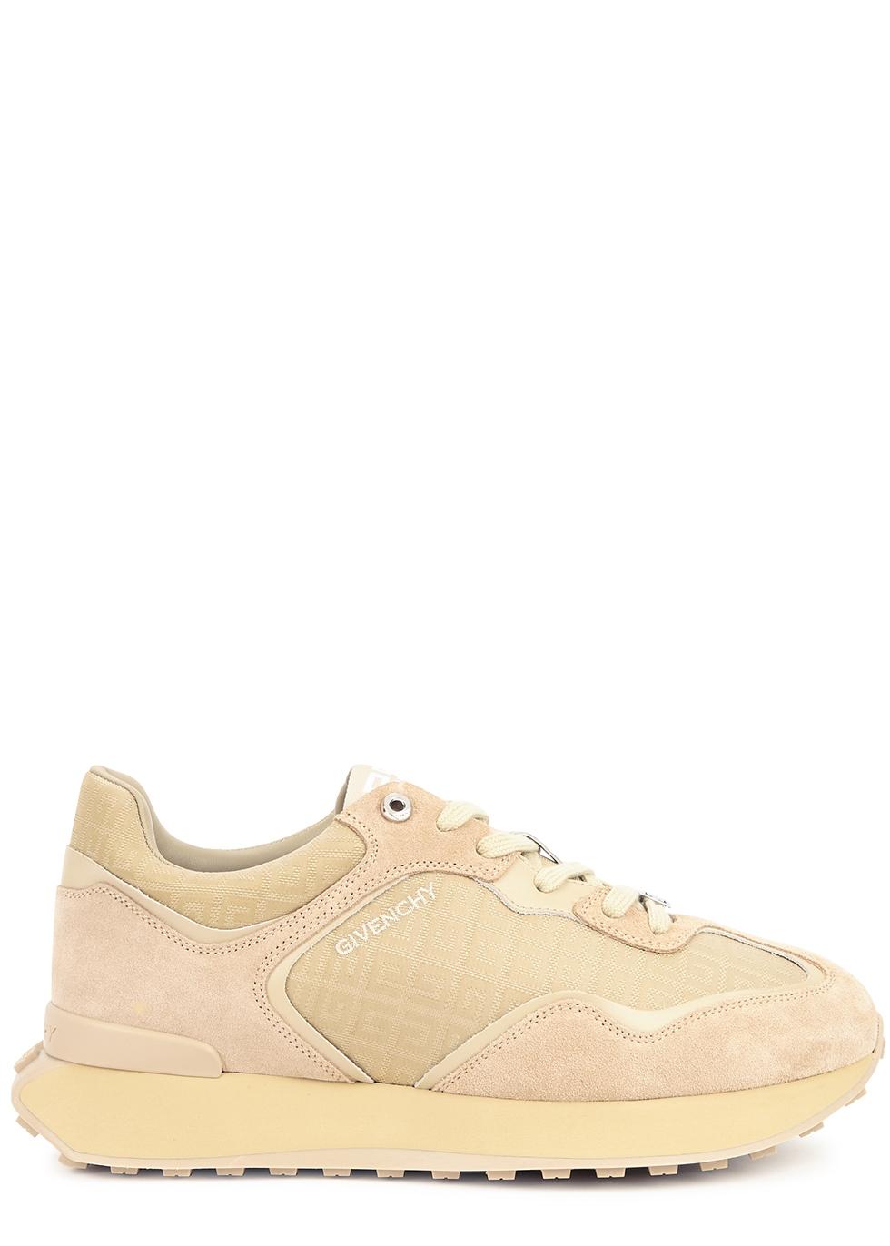 Giv Runner sand panelled sneakers