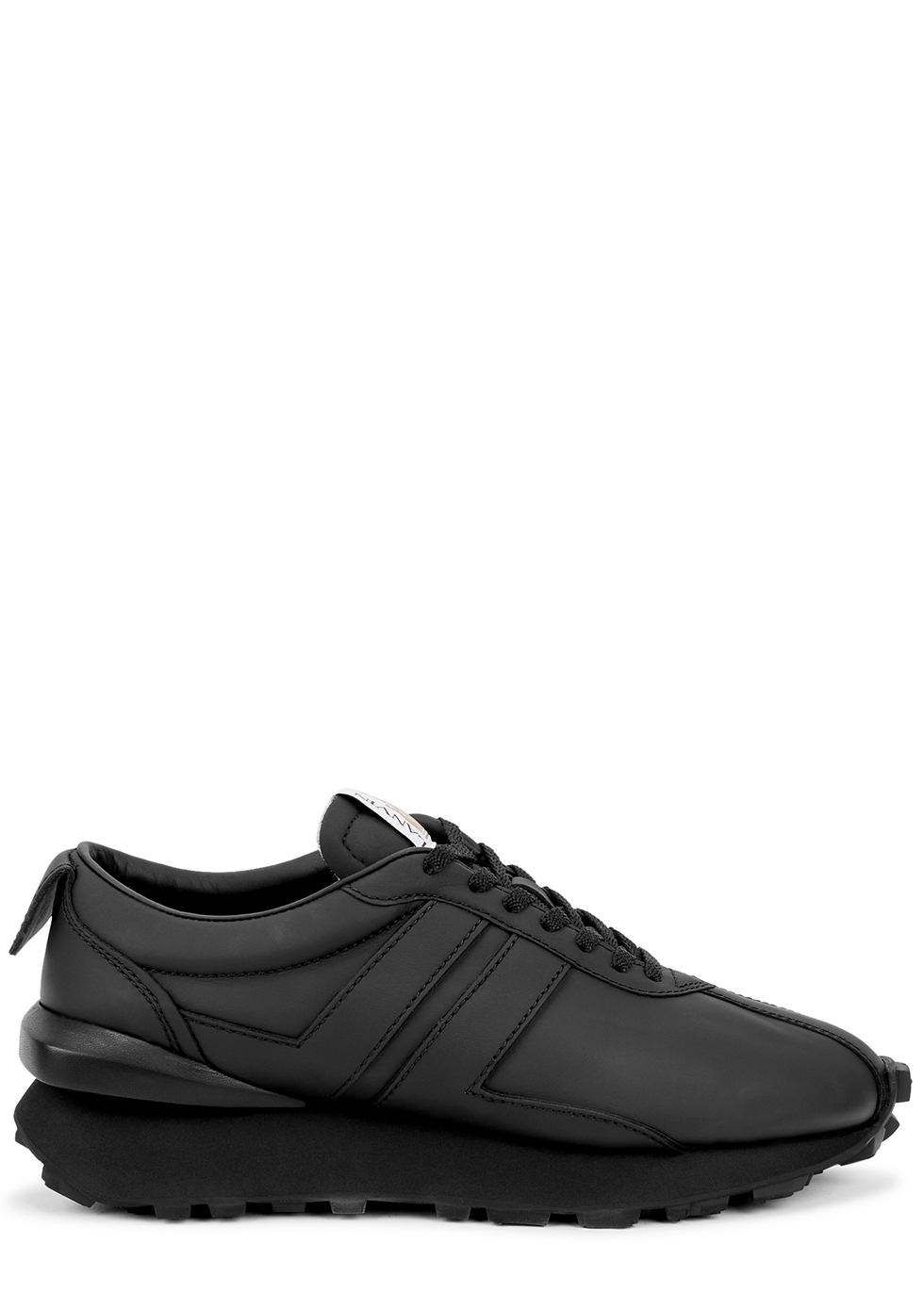 Bumpr black leather sneakers