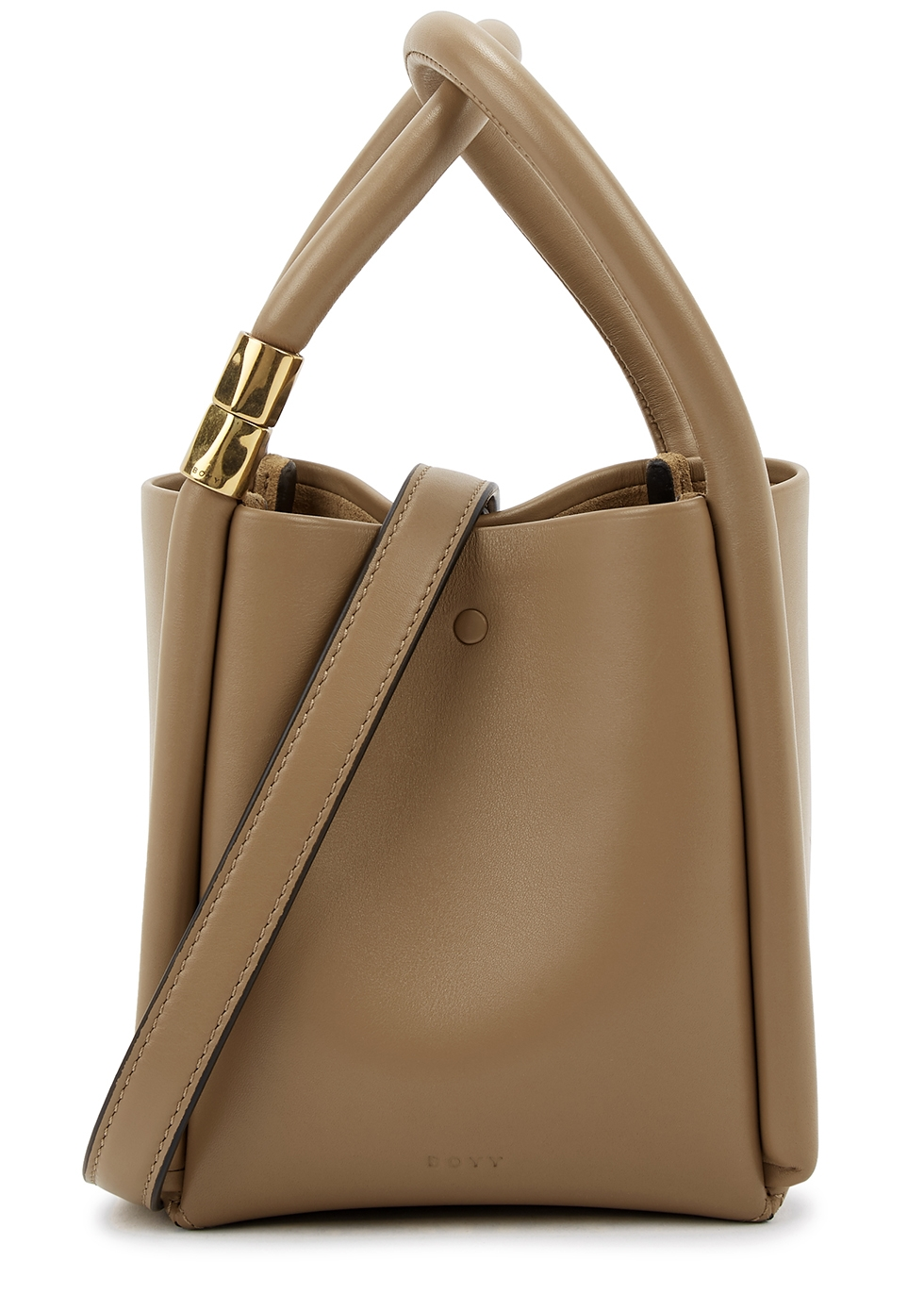 Lotus 12 sesame leather top handle bag