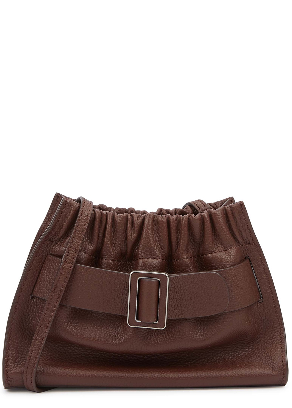 Square Scrunchy leather cross-body bag