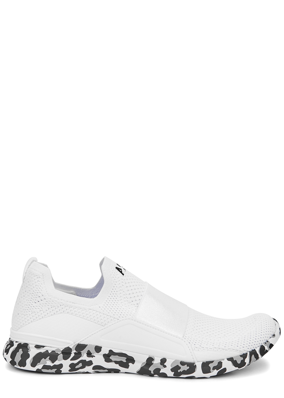 Techloom Bliss white stretch-knit sneakers