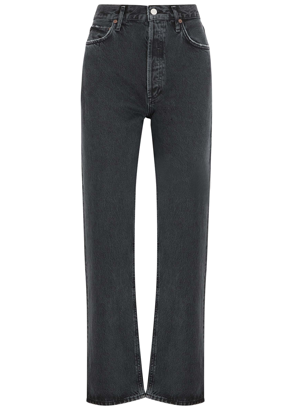 90's charcoal straight-leg jeans