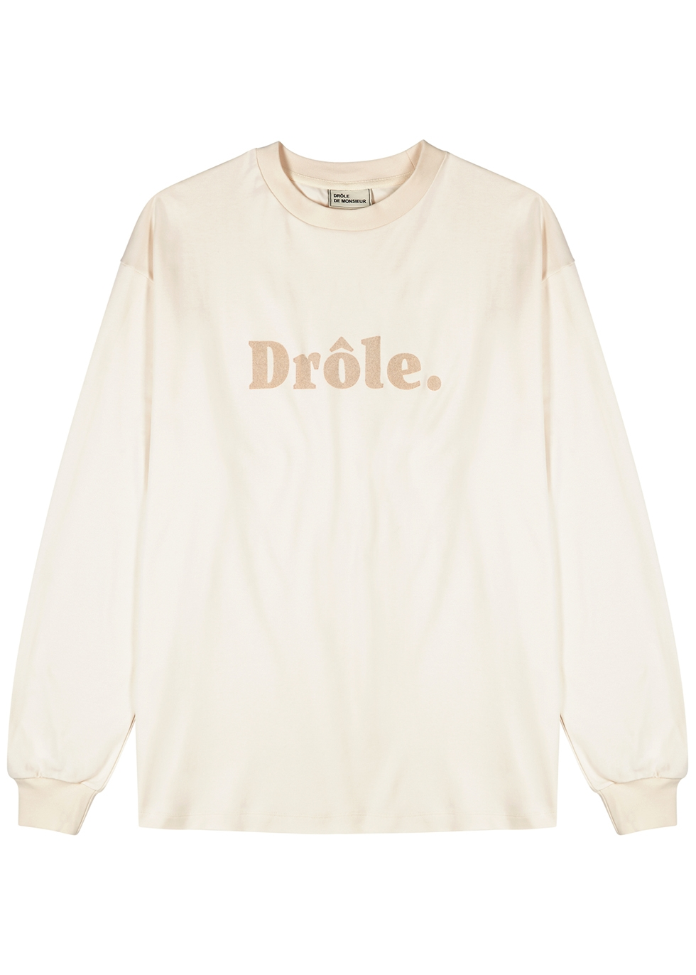 Off-white logo-flocked cotton top