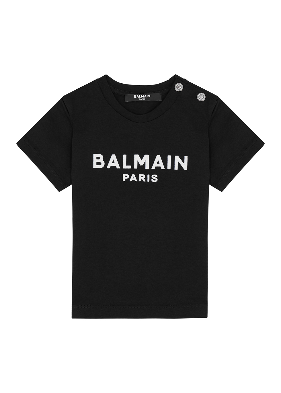 Black logo cotton T-shirt (12-24 months)