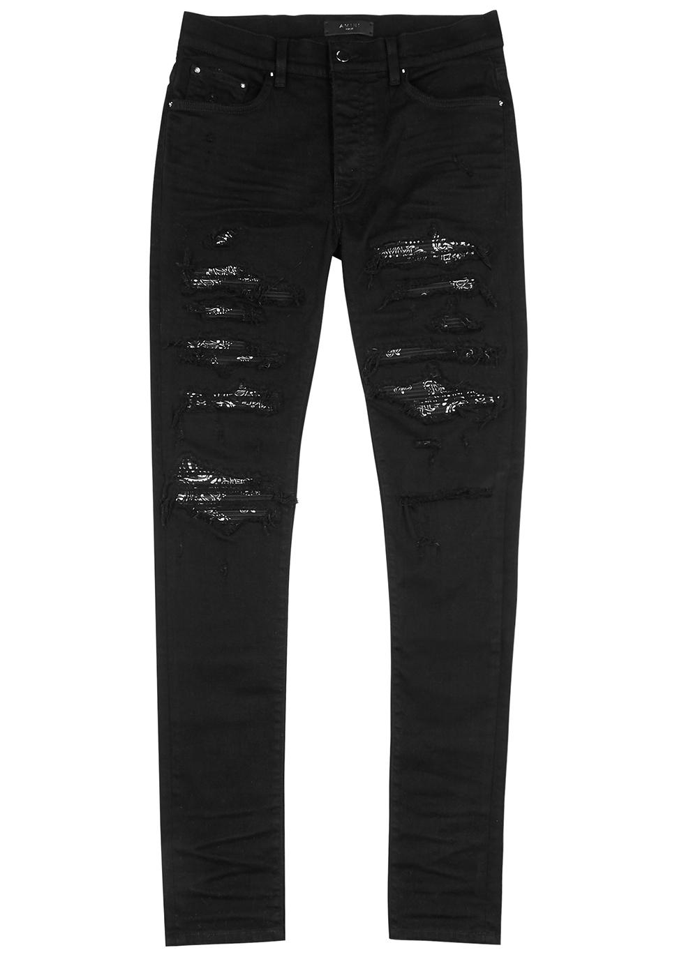 Thrasher black distressed skinny jeans