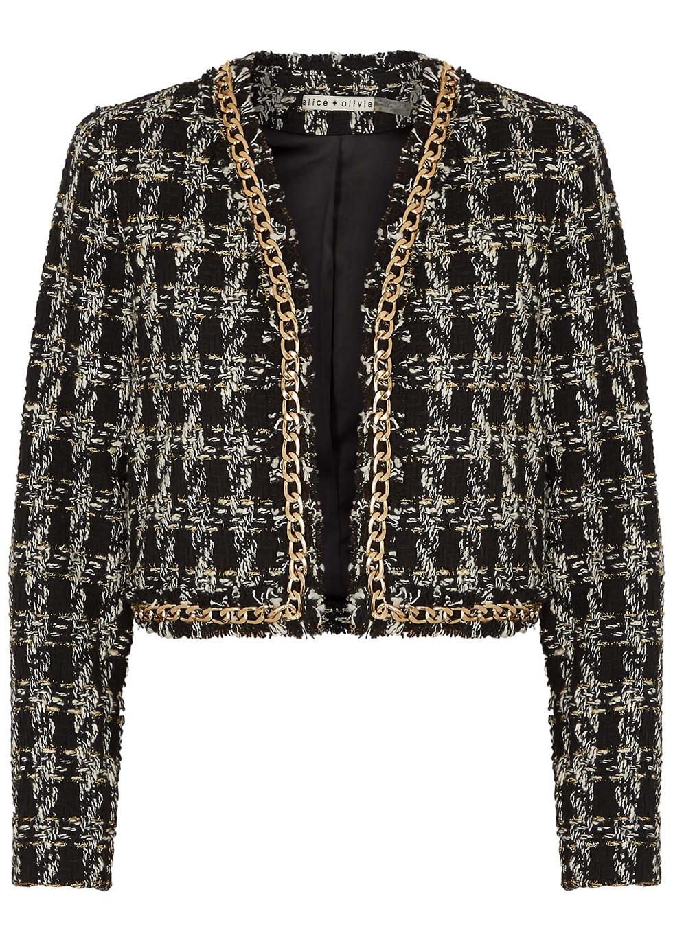 Zeta monochrome bouclé tweed jacket