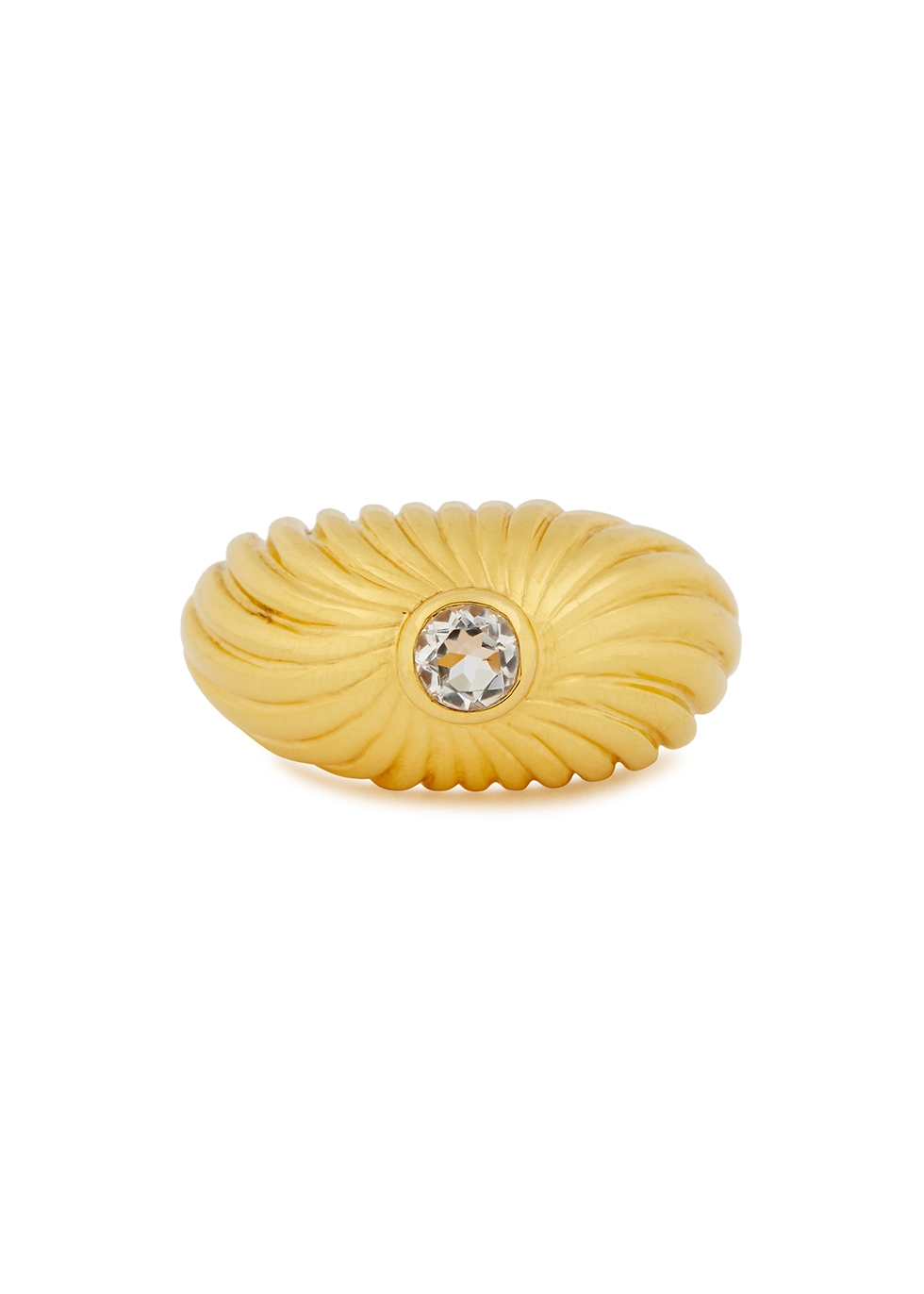 Gisele 18kt gold-plated ring
