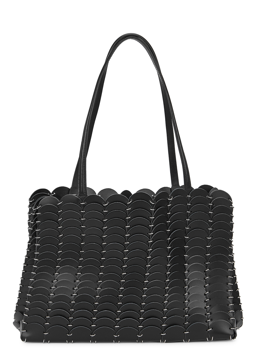 Pacoio black leather tote