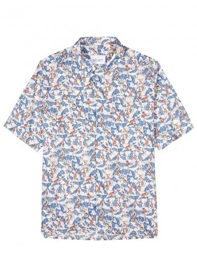 Boutique D'expédition Pour Vente Vente Pas Cher Camp-collar Printed Cotton Shirt - NeutralAlbam aw1R2