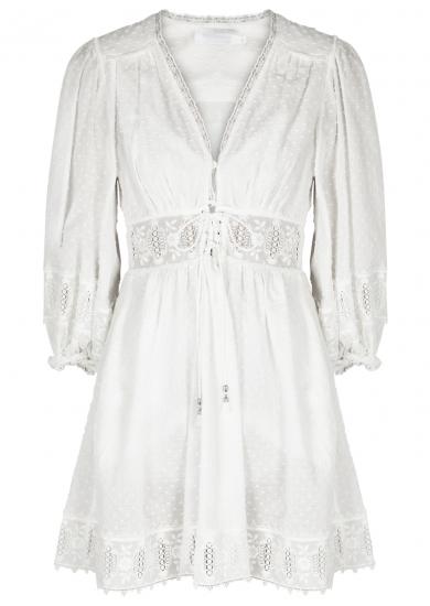 Iris Corset Embroidered Cotton Dobby Dress by Zimmermann