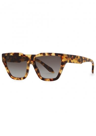 Victoria Beckham Tortoise Shell Large Sunglasses