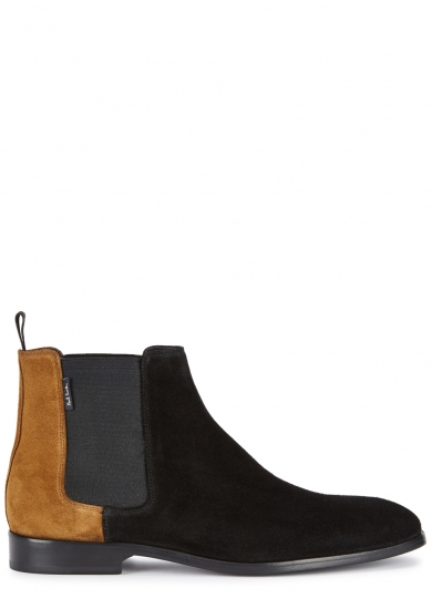 Ps By Paul Smith PS BY PAUL SMITH GERALD CONTRAST SUEDE CHELSEA BOOTS