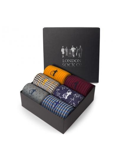 LONDON SOCK COMPANY David Gandy Colour 6 Pair