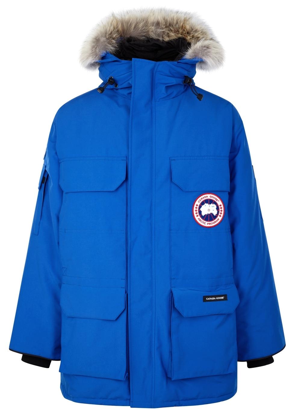 bright blue canada goose jacket