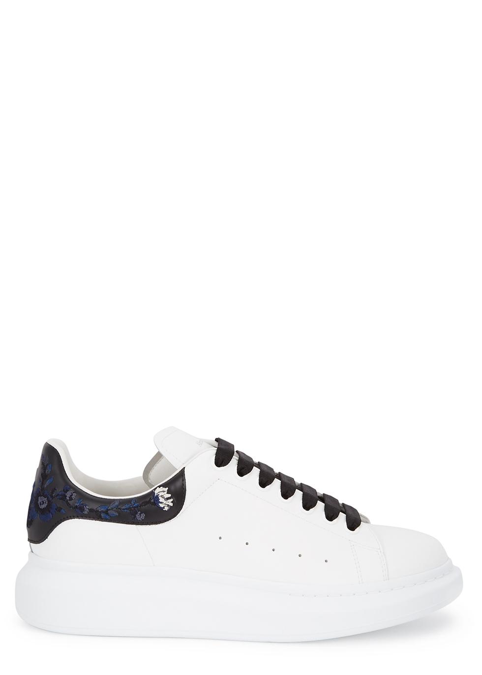 00edbffbc0a7 Alexander McQueen White knitted trainers - Harvey Nichols