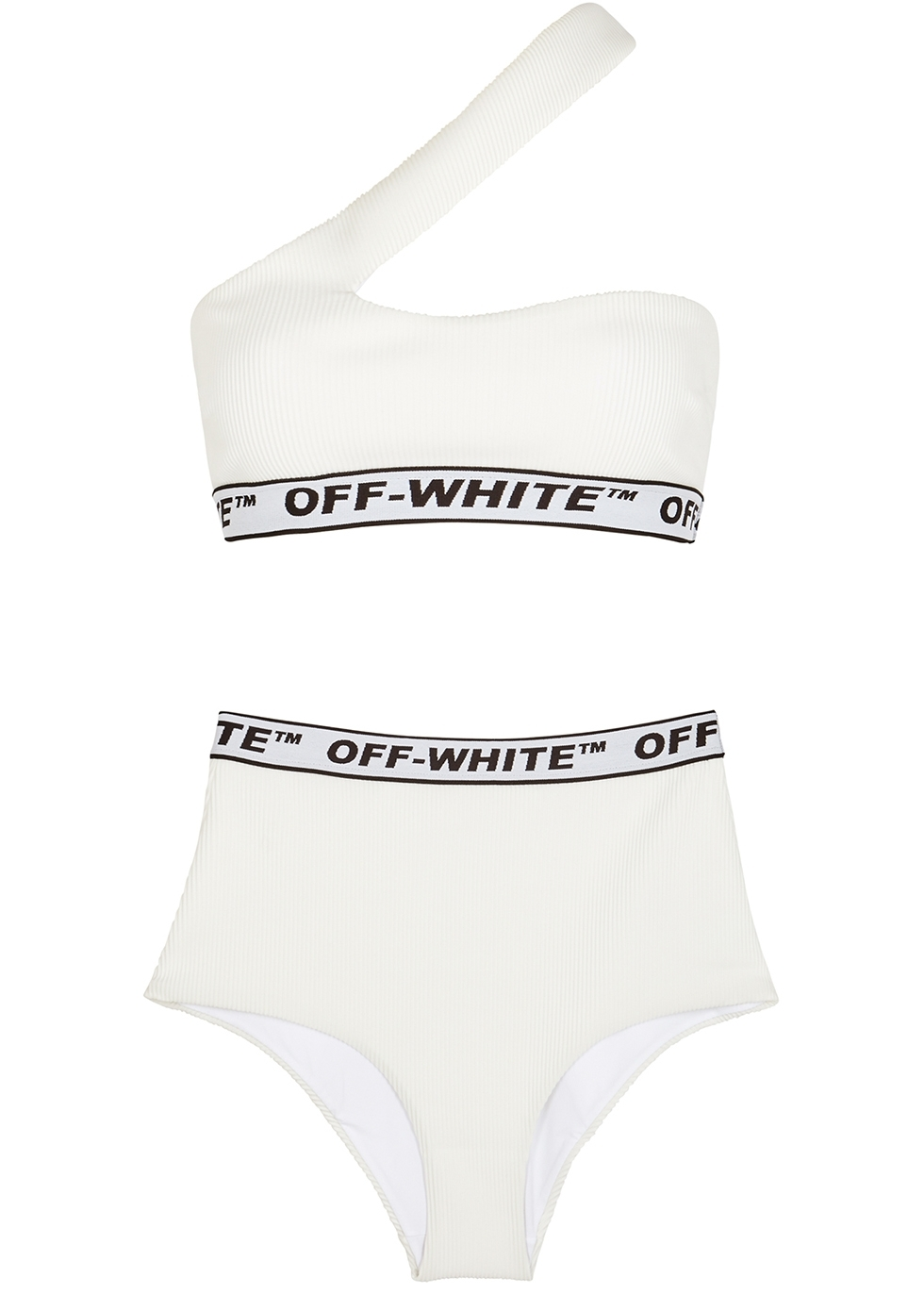 fbc2f160659b3 Off-White Black one-shoulder bikini - Harvey Nichols