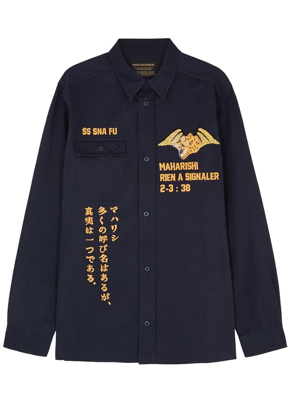 8a4ab6f8894497 maharishi Onibegie navy shell sweatpants - Harvey Nichols