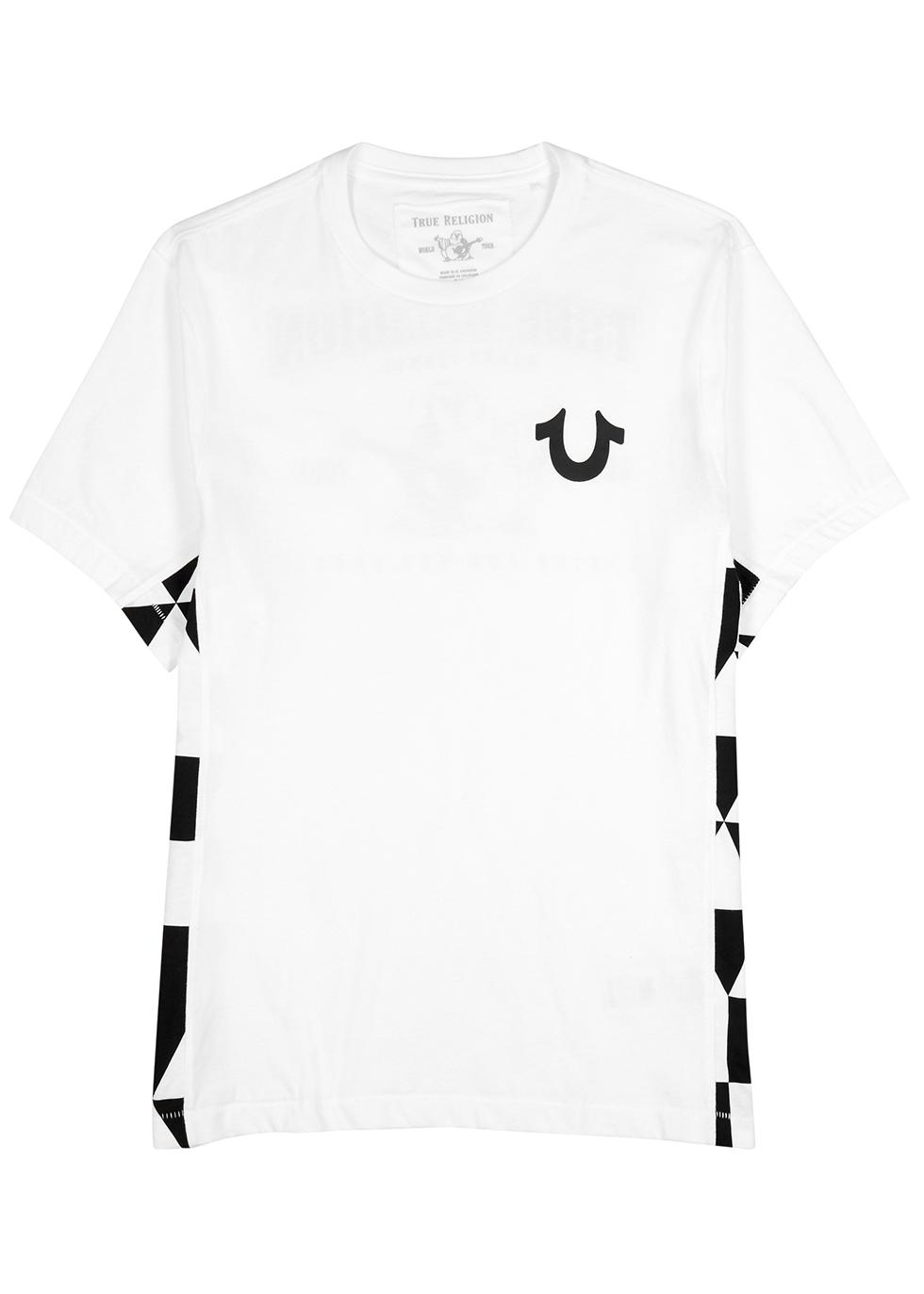 52712709025 True Religion White Buddha-print cotton T-shirt - Harvey Nichols