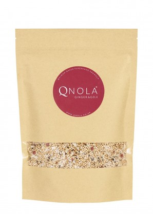 QNOLA Ginger, Sesame and Goji Berry Quinoa Cereal 250g