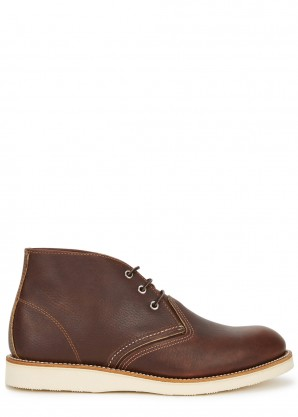 Red Wing Shoes Brown leather chukka boots
