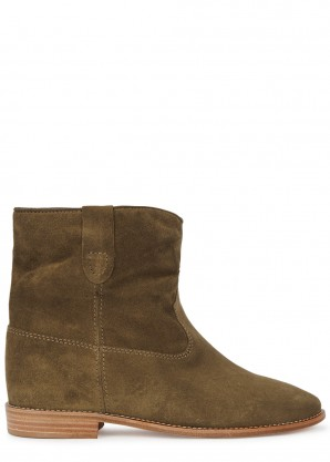 Isabel Marant Crisi 75 brown suede ankle boots