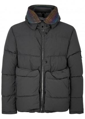 Stone Island Shadow Project Grey garment-dyed nylon coat