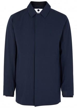 NN07 Bryan navy shell coat
