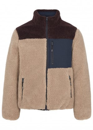 Kenzo Faux shearling and shell jacket