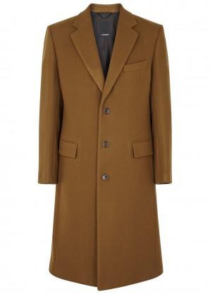 J.Lindeberg James camel wool-blend coat