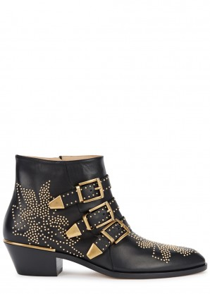 Chloé Susannah 40 studded leather ankle boots