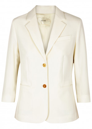 THE ROW Schoolboy ivory wool-blend blazer